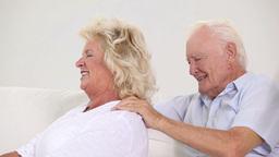 Grandpa massaging his wife Footage