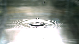 Drops of water on water Footage