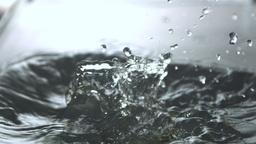 Aspargus falling in water close up Stock Video Footage