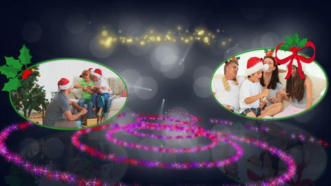Christmas family spiral animation Animation