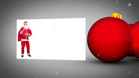 Christmas red balls animation Animation
