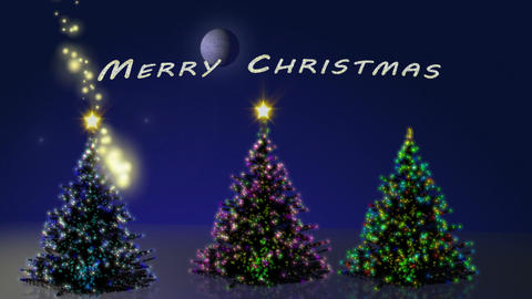 Merry christmas with trees animation Animation