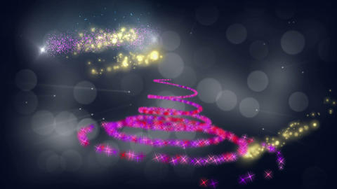 Merry christmas spiral animation Stock Video Footage