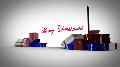 Merry christmas with happy new year animation Animation