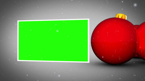 Red christmas balls animation Animation