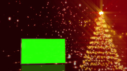 Christmas tree with green screens animation Animation