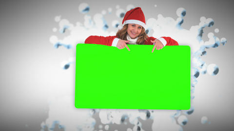 Christmas animation with green screen Stock Video Footage