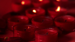 Red candles extinguished by a breeze Footage