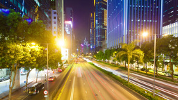 4k Hyperlapse Video Of A Busy Street In Hong Kong stock footage