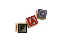 Blocks spelling faq dropping down Stock Video Footage