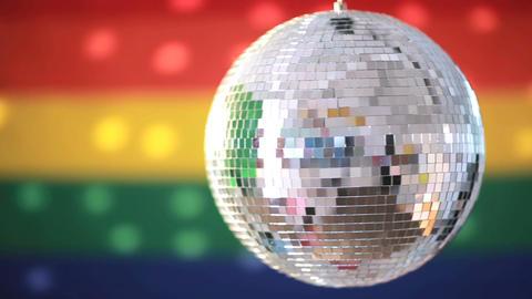 Shiny disco ball revolving Footage
