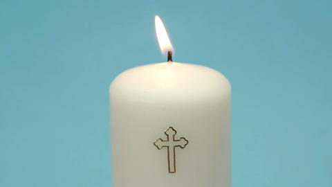 Christian candle burning and being blown out Footage