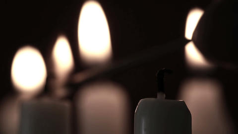 Candles being lit Stock Video Footage