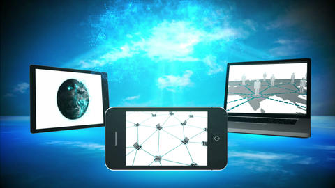 Various multimedia devices Animation
