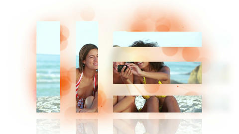 Montage Of Vacation Clips stock footage