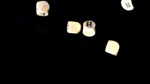 Human rights dice coming together on black backgro Footage