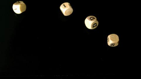 HIV and aids dice falling together Stock Video Footage
