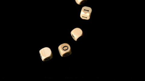 No smoking dice falling together Stock Video Footage