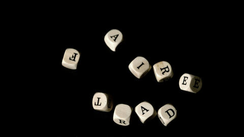 Fair Trade Dice Falling Together stock footage