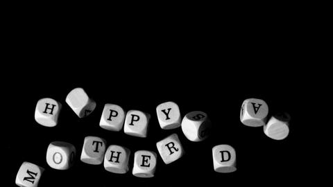 Happy mothers day dice falling together Stock Video Footage