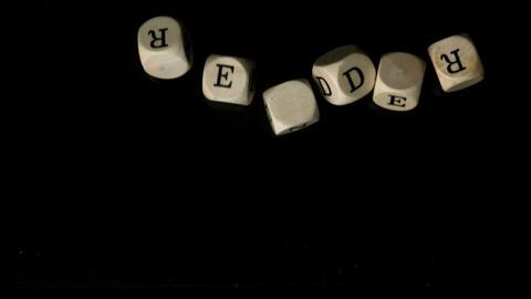 Aprender dice falling together Stock Video Footage