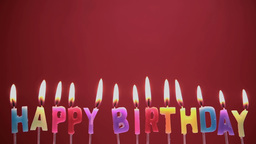 Happy birthday candles Stock Video Footage