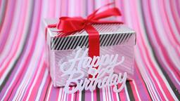 Focus On Birthday Gift stock footage