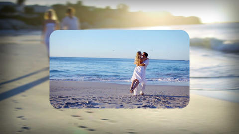 Couples on holiday montage Stock Video Footage