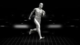 Full body scan of running digital human Animation