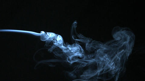 Smoke blowing horizontally Stock Video Footage