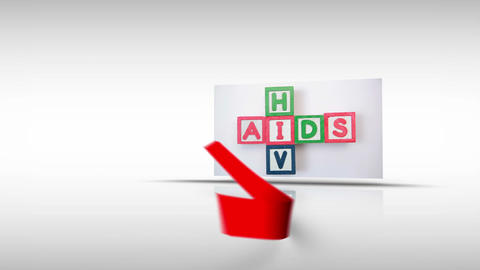 Aids awareness montage with copy space Stock Video Footage