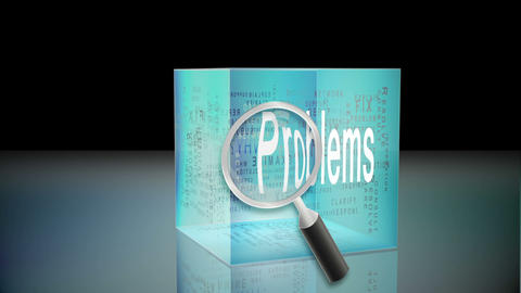 Problems and solutions animation Stock Video Footage