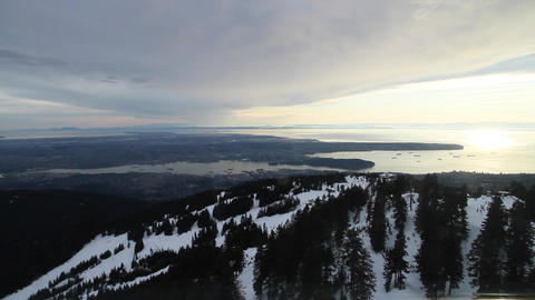 georgeous day - aerial of vancouver and grouse Footage