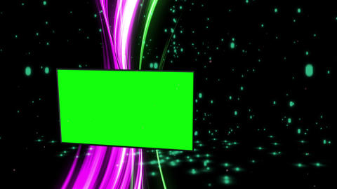 Montage of green screens with abstract background Stock Video Footage