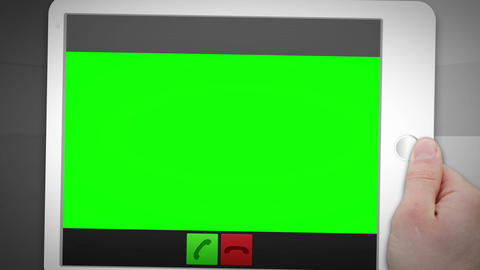 Montage of green screen into a tablet Animation