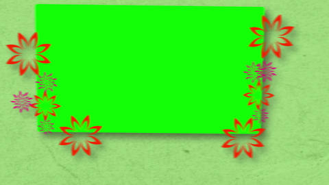 Chroma key spaces with flowers Animation