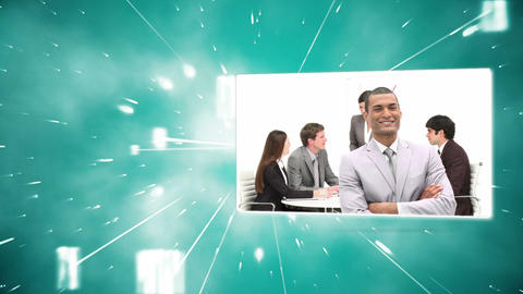 Montage of business colleagues at work Animation