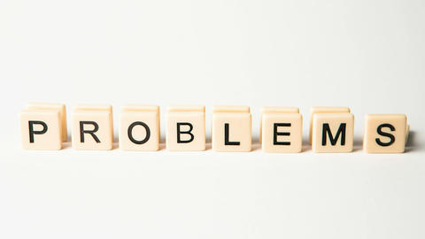 Letter pieces spelling solutions and problems stan Footage