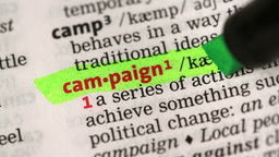 Definition of campaign Stock Video Footage