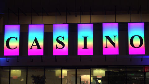 Casino neon sign. 4K Footage