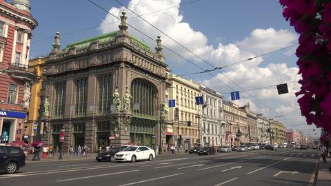 Eliseevsky shop in St. Petersburg. 4K Footage