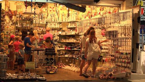 Souvenir shop (bazaar) 4K Footage