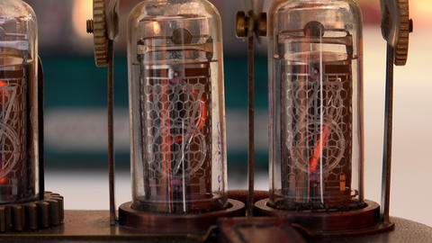 Vacuum tube, numbers. 4K Footage