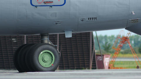 4K UHD Stock footage Military Cargo Taxiing Closeu Footage