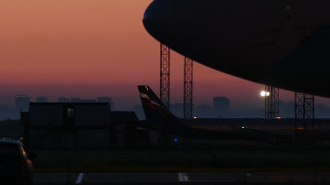 4K UHD Stock footage Passenger Plane Taxiing Again Stock Video Footage