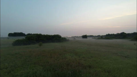Aerial Stock Footage Countryside at Early Morning Footage