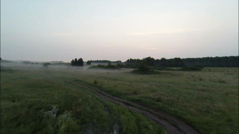 Aerial Stock Footage Rural At Early Morning stock footage