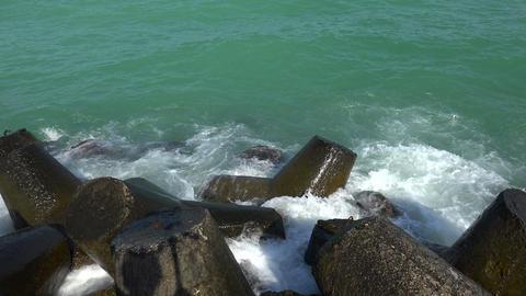 Sea, Waves, Rocks. 4K stock footage