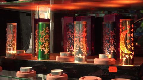 Souvenir candle. 4K Footage
