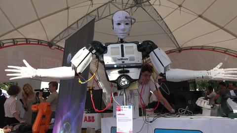 Humanoid robot. 4K Stock Video Footage